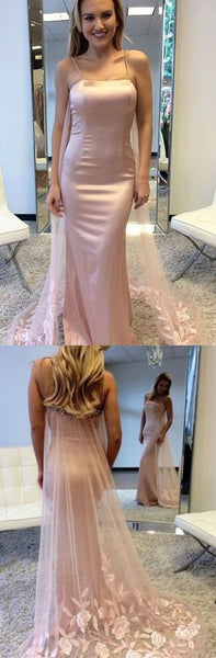 Spaghetti Straps Mermaid Prom Dresses,Long Prom Dresses,Cheap Prom Dresses, Evening Dress Prom Gowns, Formal Women Dress,Prom Dress, D0453