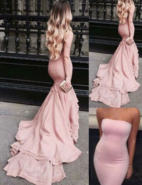 Prom Dress, Prom Dresses, Mermaid Prom Dress, Off-the-shoulder Prom Dress, Pink Prom Dress, Sweep Train Prom Dress, Sexy Prom Dress, Long Prom Dress, Evening Dress, Evening Gown,D0550