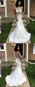 prom dresses,sexy mermaid prom dresses,long white prom dresses,prom dresses for women,D0554