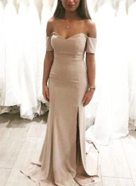 Sexy Sweetheart Mermaid Slit Long Formal Gowns, Evening Gowns, Party Dresses, D0559