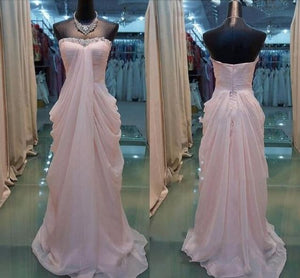 Pink Elegant Long Bridesmaid Dresses, Pink Formal Dresses, Evening Gowns, Party Dresses, D0562