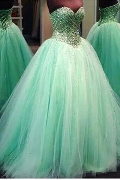 Real Made Sweetheart Beading Princess Quinceanera Dresses Lace-Up Tulle Dresses Quinceanera Dresses Prom Dresses New Arrival Prom Dress, D0601