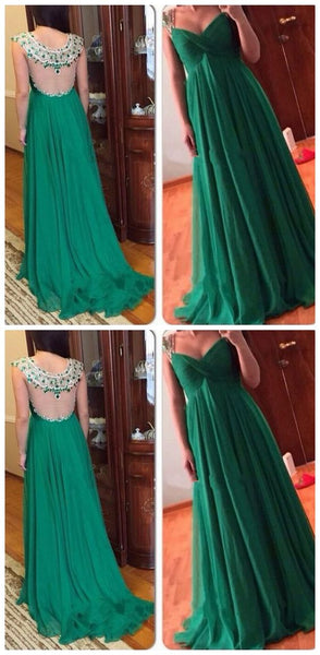 Green Sexy Beaded Sheer Back Dresses Evening Wear For Pregant Women V Neck Crystal Empire Maternity Prom Formal Party Dress Pageant Gowns, D0608