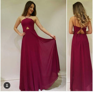 Cherry colour floor length gown 2018 CANTAS, D0624