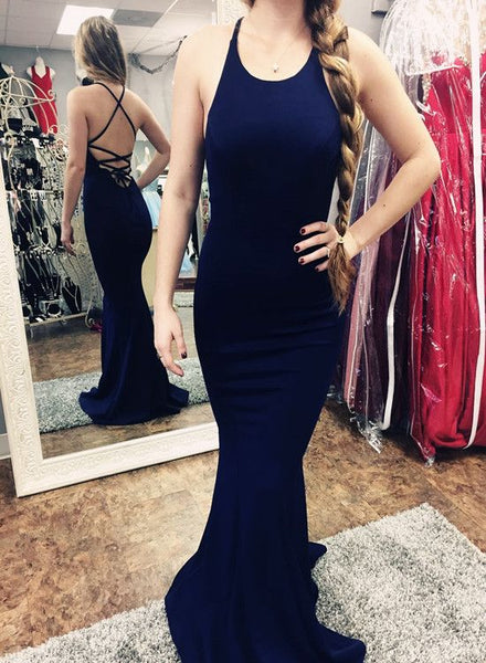 Navy Blue Long Prom Dress, Junior Prom Dresses, Party Dress,D0629