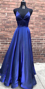 Simple Royal Blue Long Prom Dress, 2019 Prom Dress, Elegant Prom Dress , D0690