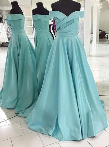 2019 blue long prom dress, off the shoulder long prom dress, elegant blue long evening dress, D0730