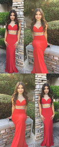 Prom Dresses 2019, Two Pieces Prom Dress , D0799