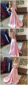 Elegant Long Bridesmaid Dress with Floral Straps, D0821