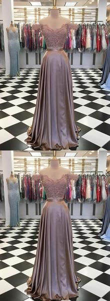 Stylish two pieces lace long prom dress, evening dress, D0824
