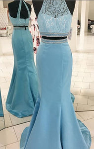 Gorgeous Two Piece Prom Dress, Mermaid Long,D0879