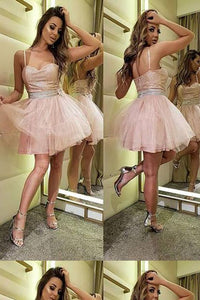 Discount Great Homecoming Dresses A-Line, Short Homecoming Dresses, Homecoming Dresses Pink,D0910