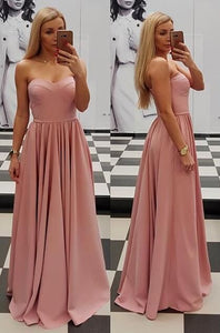 2019 Sweetheart Princess Prom Dress Blush Pink Formal Evening Gown A Line, D0945