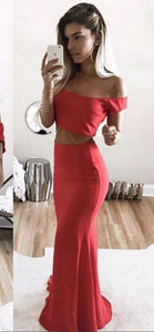 Sexy Red Long Prom Dress, Charming Long Party Dress, D0956