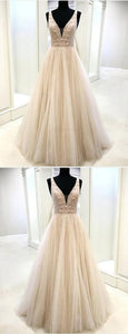 Customized Morden Appliques Prom Dresses, Prom Dresses A-Line, Sleeveless Prom Dresses, Prom Dresses 2019, D0966
