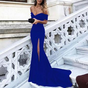 Trendy Sexy Evening dress Long Off the Shoulder Sexy Mermaid Prom Gowns DP025