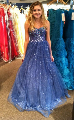 Newest Beading Tulle Prom Dresses, The Charming Evening Dresses,DR0429