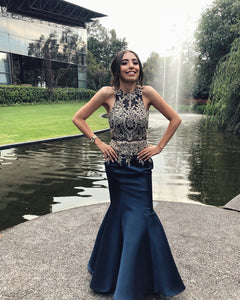 Long Prom Dresses, Mermaid Halter Evening Dresses,DR1372