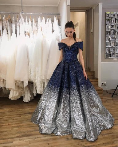 Ball Gown Sparkly Prom Dresses, Long Prom Dress, Prom dress,DR2587