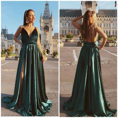 green Beautiful Prom Dresses,DR2524