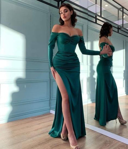 green Beautiful Prom Dresses,DR2525