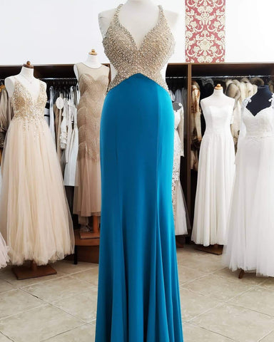 Mermaid Beaded prom dress,Long Prom Dress, Prom dress,DR2558