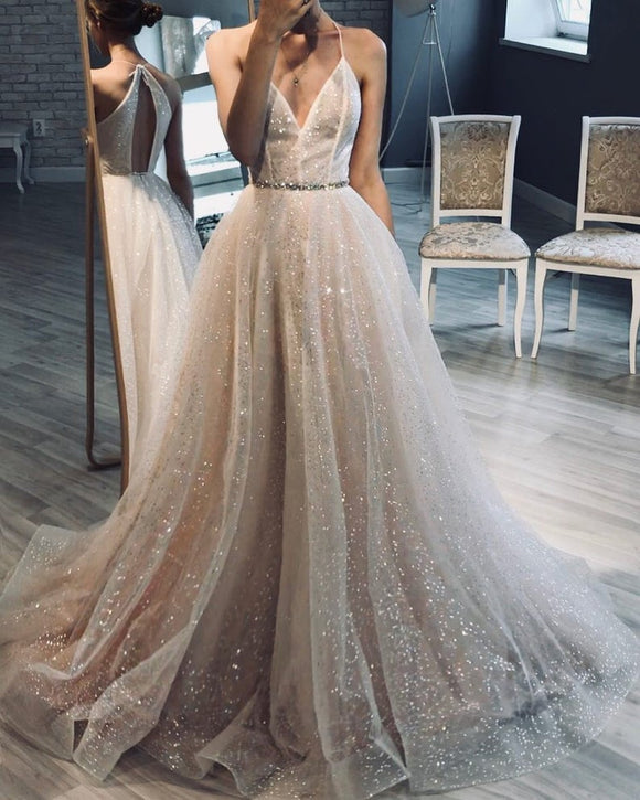 Sparkly Ball Gown Wedding Dress | Sparkle Glitter Wedding Dress | Glitter Wedding Gown | A line Glitter Wedding Dress,DR4966