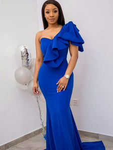 Royal blue prom dress, Party prom dress, African women's dresses, Women's fashion, Prom dresses, Royal blue prom dress, Elegant women dress,DR5119