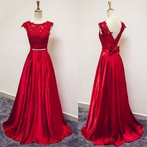 Elegant Appliques A Line Prom Dress, Formal Long Evening Dress,E0088
