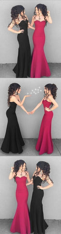 Stylish mermaid sweetheart neck long prom dress, simple evening dresses,E0173