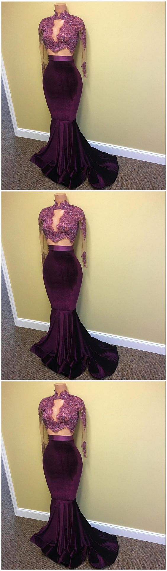 Elegant Prom Dress,Long Sleeve Evening Dress,Formal Gown ,E0260
