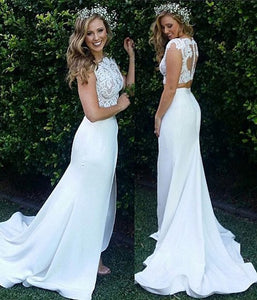 New Arrival Two Piece Lace Most Popular Modest Custom handmade Wedding Dresses,E0459