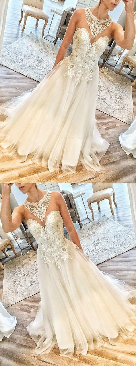 Charming Sweetheart neck Tulle Appliques Long Prom Dresses, Sexy Beaded Prom Dress ,E0466