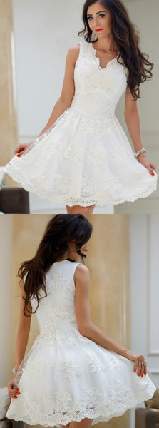 Lace homecoming dresses,short homecoming dresses,dresses for homecoming,semi formal dresses,E0518