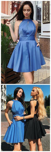 Mini Homecoming Dresses Open Back Short Party Dress,E0536