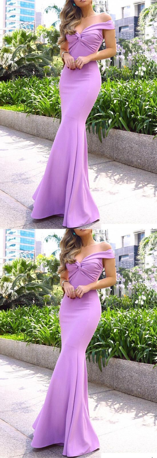 Mermaid Off the Shoulder Evening Dress, Sexy Long Prom Dress ,E0597