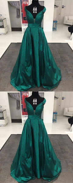 Generous Hunter Prom Dress - Off Shoulder Cap Sleeves Sweep Train Pleated,E0670