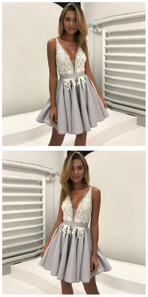 Prom Dress Short, Lace Homecoming Dress ,E0719