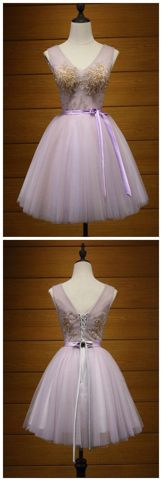 A-line Homecoming Dress V-Neck Short/Mini Prom Dress Juniors Homecoming Dresses,E0827