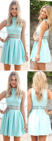Green Homecoming Dress, Homecoming Dress, Short Homecoming Dress For Teens, Fashion Gowns ,E0835