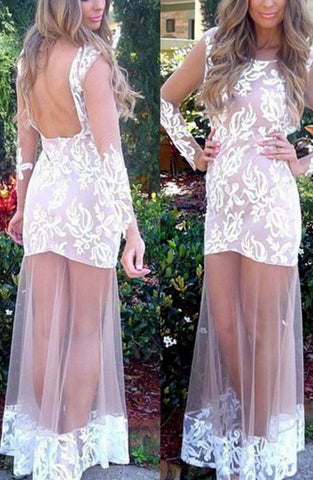 Prom Dresses , Sexy Prom Dress , Lace Prom Dresses, Backless Prom Dresses,E0843