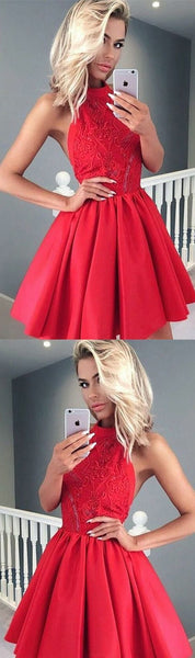 Short Red Prom Party Dresses With Pleated Backless Mini Absorbing Prom Dresses,E0854