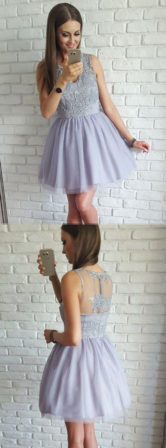 A Line Homecoming Dresses,Short Prom Dresses,Cute Homecoming Dress,E0869