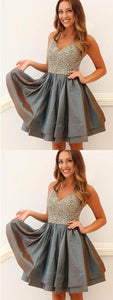 Newest Beading V-Neck Dresses,Short Prom Dresses,Cheap Homecoming Dresses, Graduation Dress, Formal Women Dress,Homecoming Dress,E0910