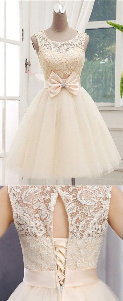 champagne Homecoming Dress,Short Prom Dresses,Cocktail Dress,Homecoming Dress,Graduation Dress,Party Dress,tulle Homecoming Dress ,E0937