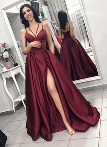 F0058 Charming Burgundy 2019 Prom Dress,Formal Evening Dress For Women,Fashion Evening Dress