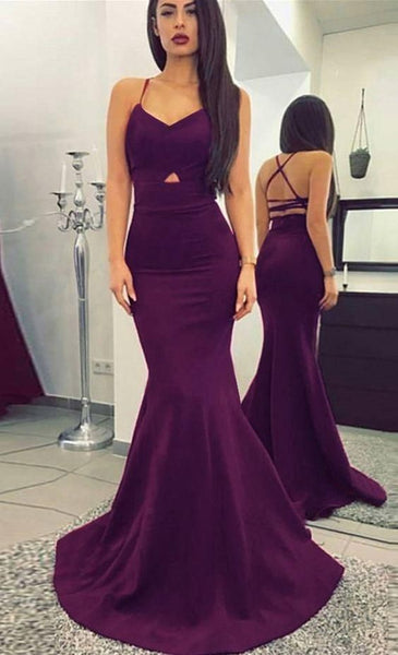 F0079 Long Mermaid Prom Dresses, Halter Prom Dresses, Backless Prom Dresses, Sexy Prom Dresses