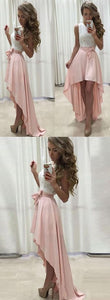 F0120 Lace Chiffon Straps A-line Hi-Lo Newest Prom Dress cheap prom dress