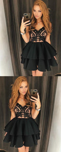 F0124 Little Black Dress Cheap Homecoming Dresses A-line Short Prom Dress Party Dress