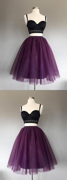 F0138 Customized Soft A-Line Prom Dress, Prom Dress Short, Prom Dress Two Piece